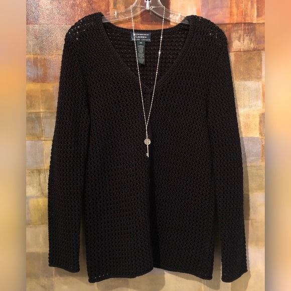 Ralph Lauren Sweaters - RALPH LAUREN Hand-Knit Cotton Black Cardigan MINT!